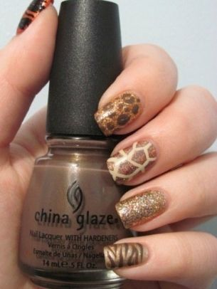 wild animal safari. like this shade of China Glaze polish too. perfect nude tone!