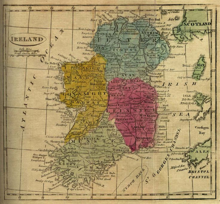 Map of Ireland 1808 9 best Map