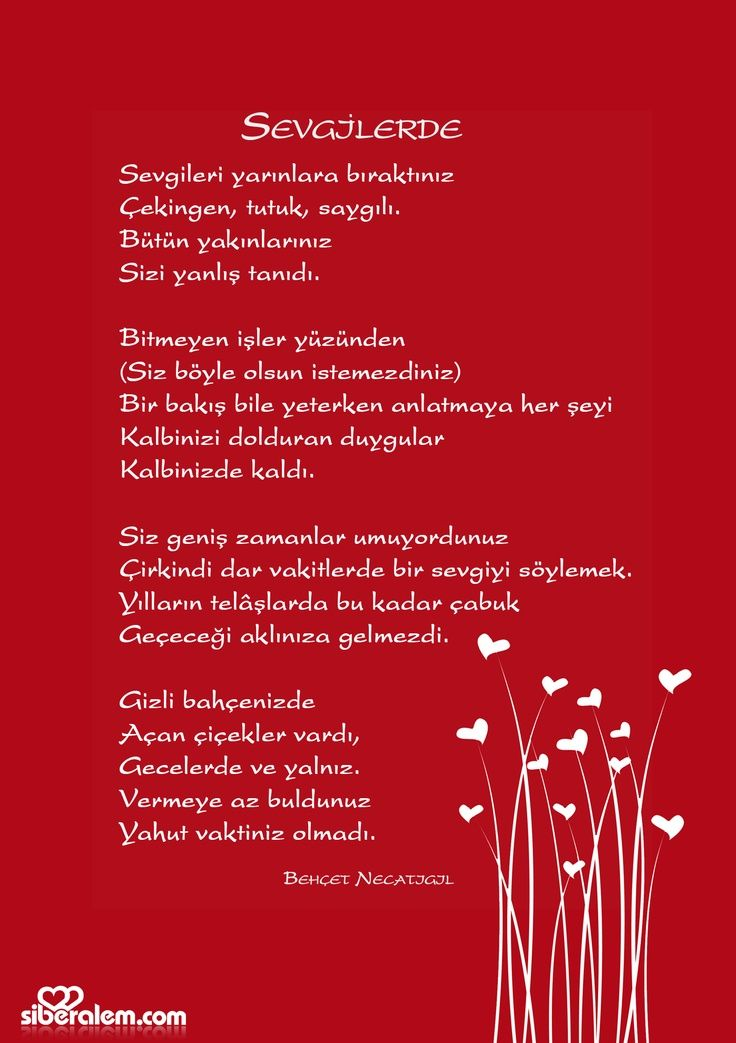Sevgilerde...