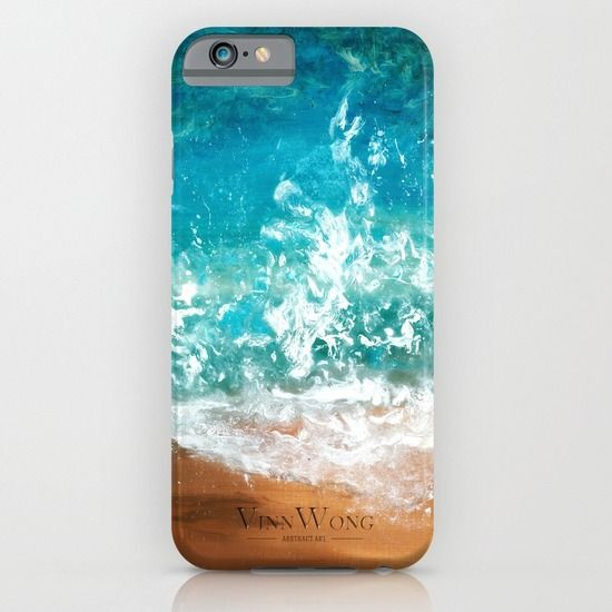 Ocean and beach inspired abstract phone case design for iPhone 6, iPhone 5S/C, iPod Touch, Galaxy s6/s5/s4 | International Shipping | Full collection www.vinnwong.com | Click to Shop or Pin it For Later!