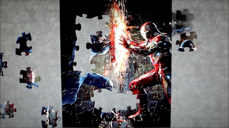 Captain America vs Iron Man Civil War Puzzle Game   Learning games   jue...