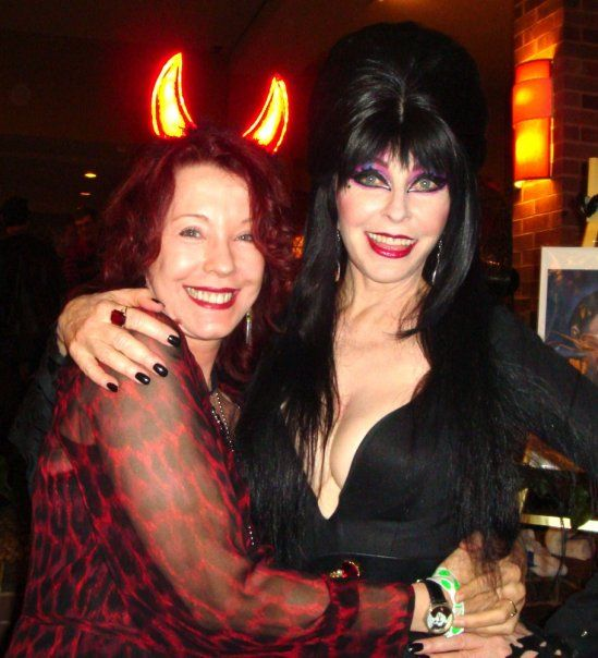 Pamela Des Barres and Cassandra Peterson (Elvira) today....
