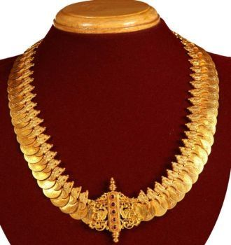 Gold Kasumala with Antique Design More From Category:Kasu and pachi diamond…