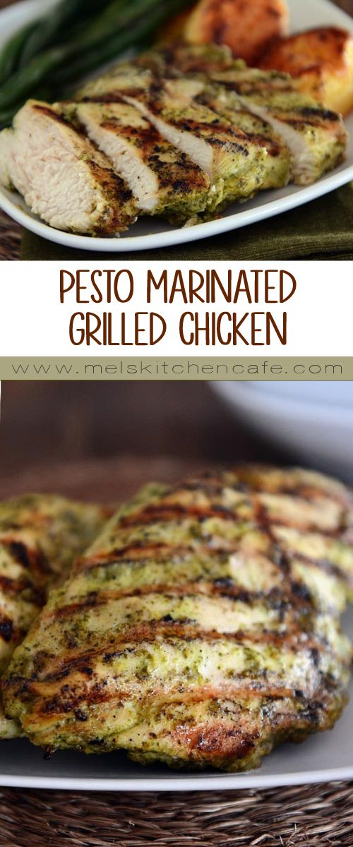 This Pesto Marinated Grilled Chicken is so flavorful, tender, juicy and delicious.