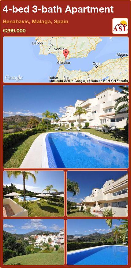 4-bed 3-bath Apartment in Benahavis, Malaga, Spain ►€299,000 #PropertyForSaleInSpain