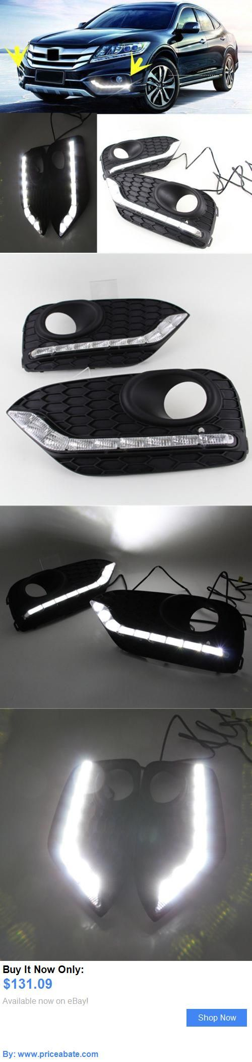 Motors parts and accessories 1 set daytime light drl led fog lights for honda crosstour