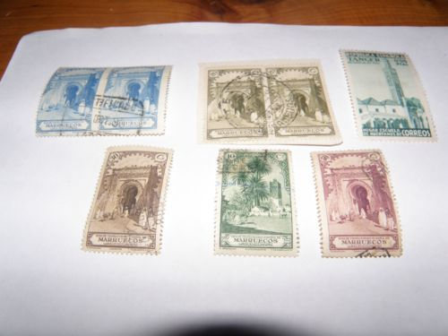 8 x 1928 stamps of Spanish Morocco. SOLD продано