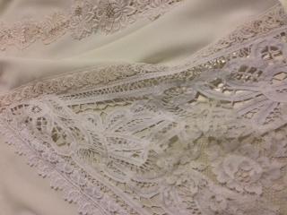 Vintage tape lace godet #Dimity #EcoBride
