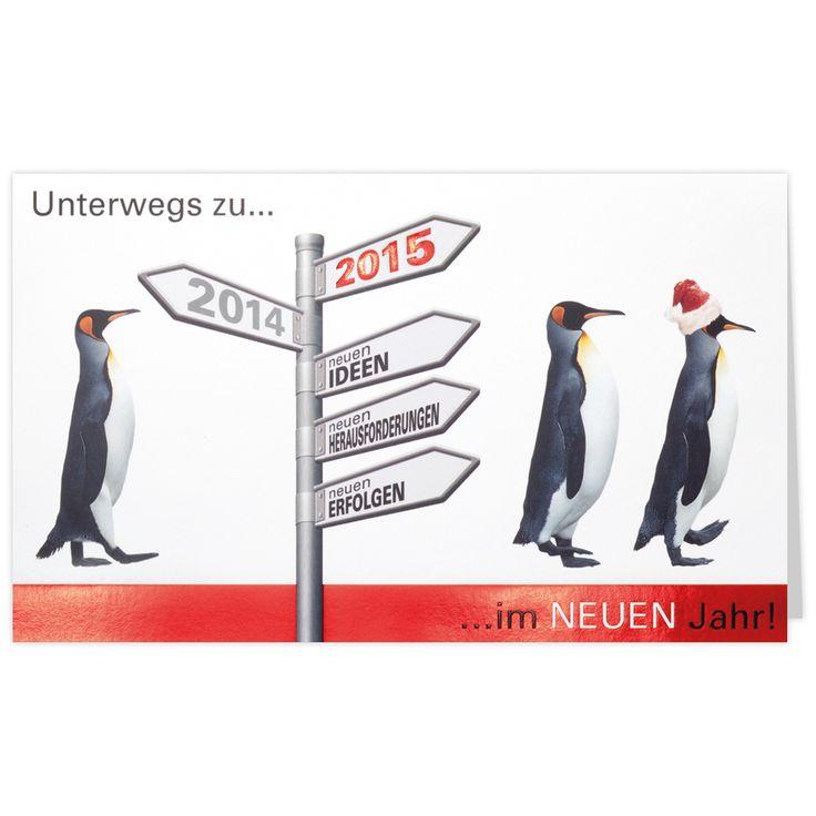 Neujahrskarten mit Pinguine Nr. 734929 (Belarto) bei uns bestellen