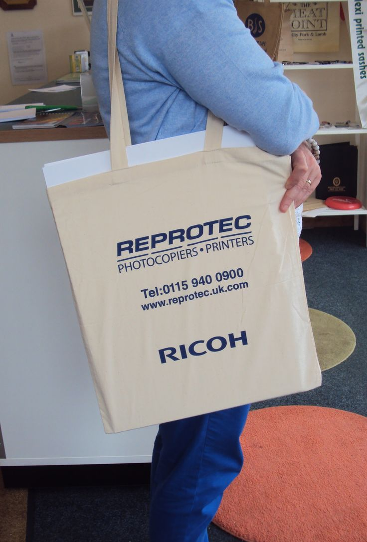 Promotional Goods for Reprotec - Cotton Tote Bags. Screen printed both sides 1 colour.