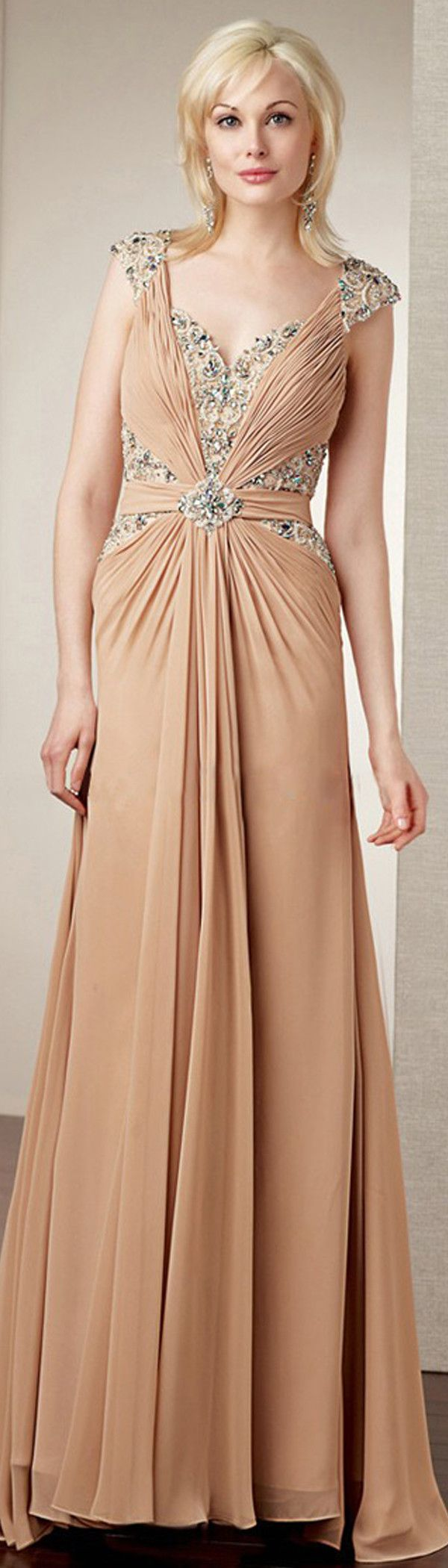 Futuristic Stretch Satin & Chiffon A-line Sweetheart Neckline Full Length Mother of the Bride Dress