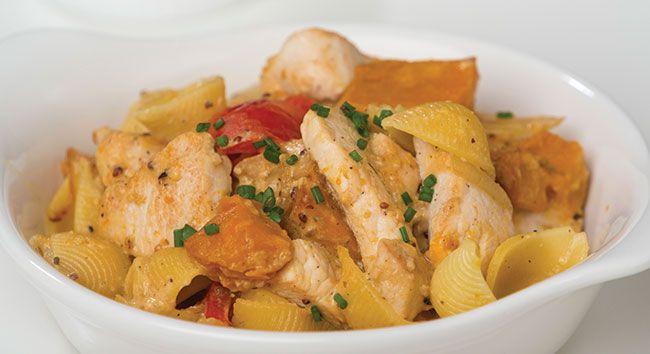 Creamy Chicken & Roast Vegetable Pasta | Tony Ferguson Weightloss Program