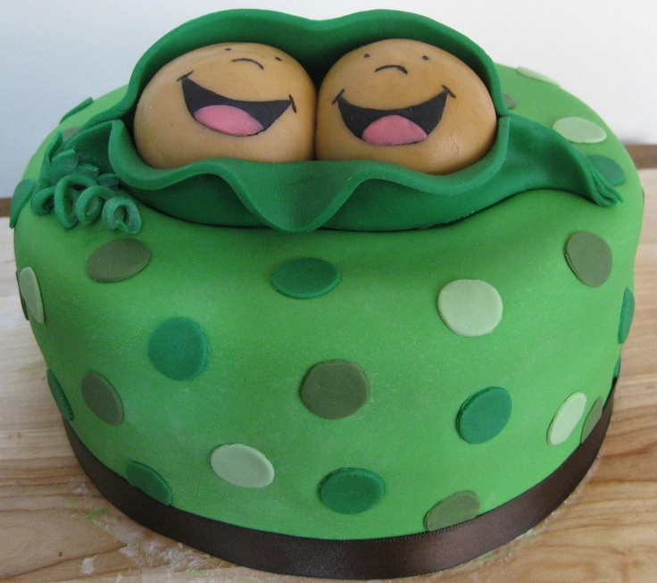 "wish theme cakes: ""Two Peas in a Pod"" Baby Shower Cake"