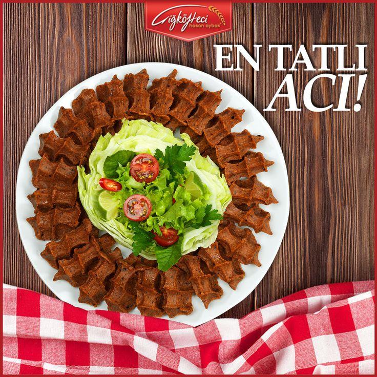Çiğköfte dediğin acılı olur diyenler buraya!  #çiğköftecihasanaybak #çiğköfte #lezzet