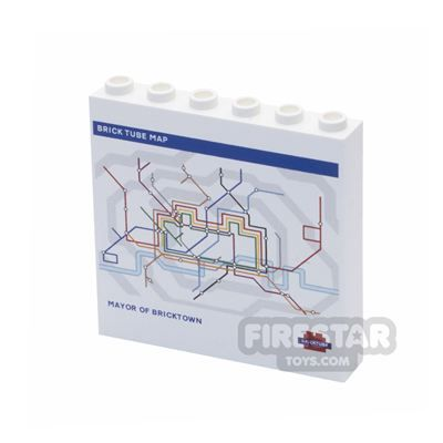 Printed Panel 1x6x5 - Underground Tube Map