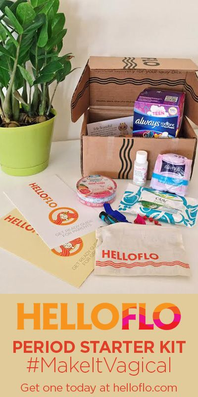 Is she prepared? What about you? This care package includes supplies, treats and practical advice for girls and parents.