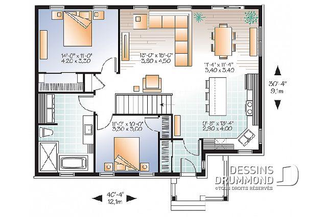 Plan De Maison Unifamiliale Bourgade 2 No 3131 V1 Plan