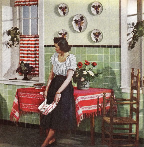 Chronically Vintage: A 1940s take on Mediterranean inspired home decor