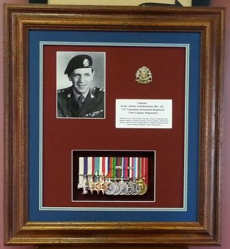 Captain Arnie Charbonneau, MC. 14th Canadian Armoured Regiment (Calgary Regiment) Awarded his Military Cross for  actions at Motta Montecorvino Italy, WW2.