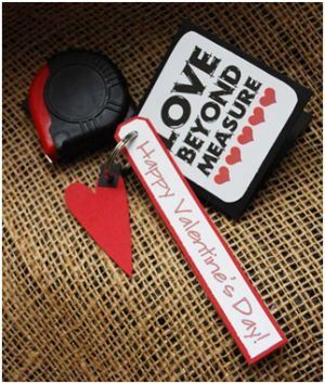 """14 Valentine's Gifts for Your Man - Tools """"Love Beyond Measure"""" - #tools #tape #measure #love #valentines #gifts #man #guy #husband #boyfriend"""