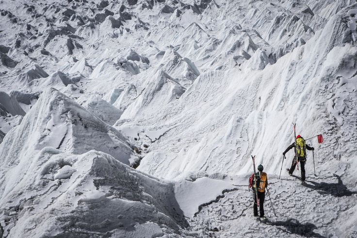 """Shishapangma Ski Challenge 2013"" was the first event of the five-year project called Hic Sunt Leones.. photo: Marcin Kin Photography #suntleones‬ #shishapangma #icefall"