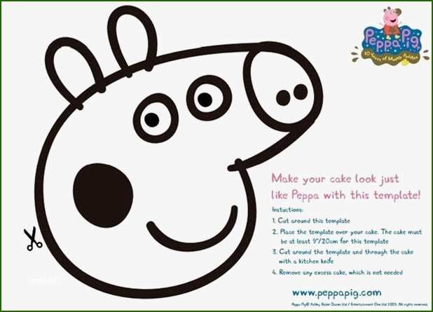 Beautiful Peppa Pig Cake Template That Don T Take A Long Time Peppa Pig Birthday Party Peppa Pig Birthday Peppa Pig