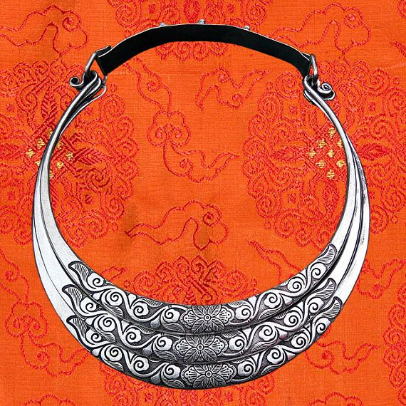 Hill tribe silver necklace - #tribalchoker for music festival
