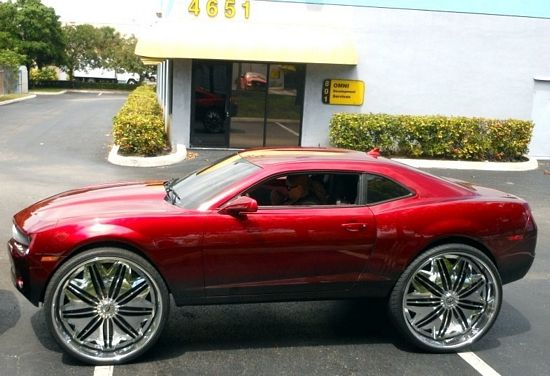 60 Inch Rims On Car : Hmmm chevy camaro on inch rims this is what you call