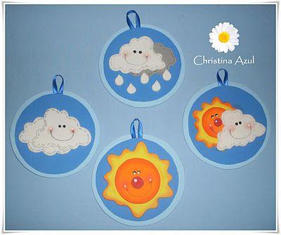 Christina Azul: Cartaz do tempo em eva - fundo do mar