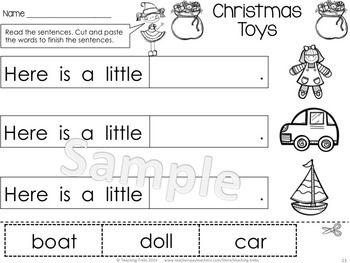 Christmas fun! One of 50 no-prep printables in Christmas for Kinder Kids! $
