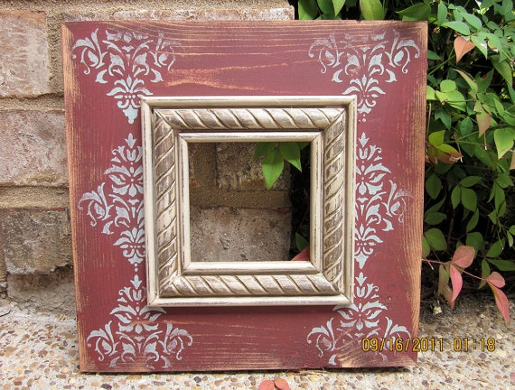 4x4 Distressed Picture Frame Heritage Brick / by ShirleyFrames, $30.00