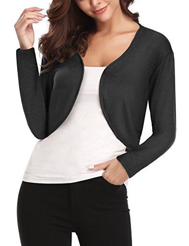 bfe548f371 Chic Abollria Women's Long Sleeve Shrug Bolero Open Front Cardigan online.  [$17.99] weloveoffer from top store