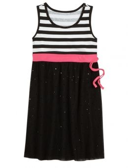 Justice clothes for girls outlet striped mesh dress girls dresses