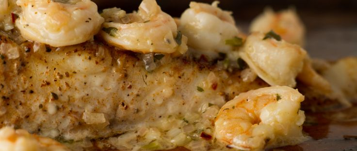 Recipe Sunday: Baked Grouper Topped with Garlic Shrimp