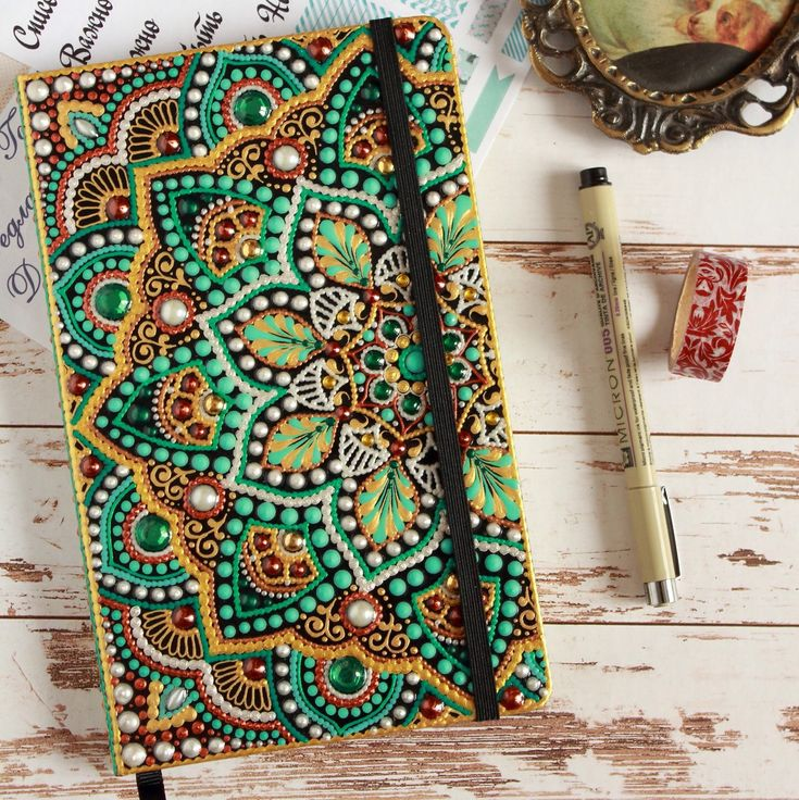 New lined journal with hand painted cover now is on sale (read listing description).