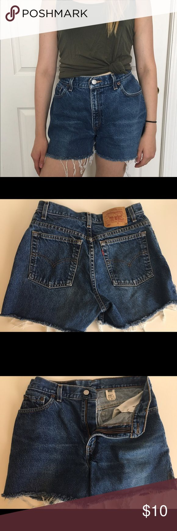 Levi's cut shorts High wasted levis shorts (shirt also for sale) Levi's Shorts Jean Shorts