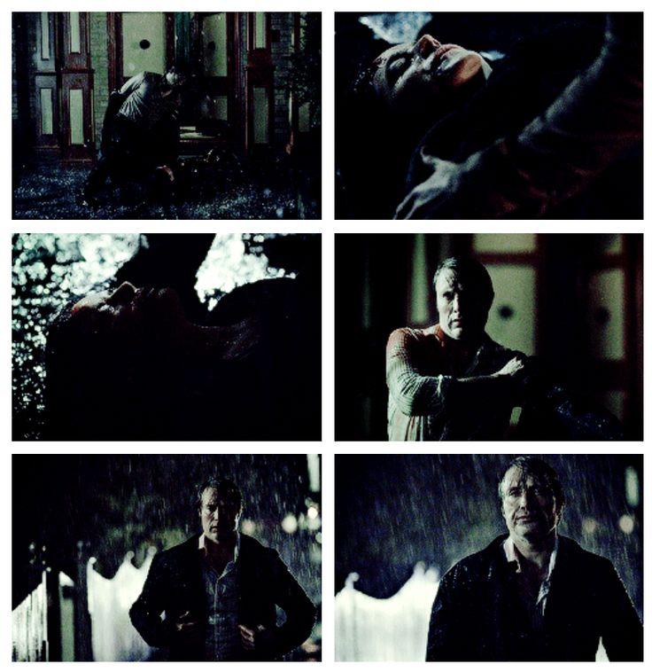 """Hannibal stealing Will's jacket from a dying ex-lover. HANNIBAL 2x13 Season Finale """"Mizumono"""""""