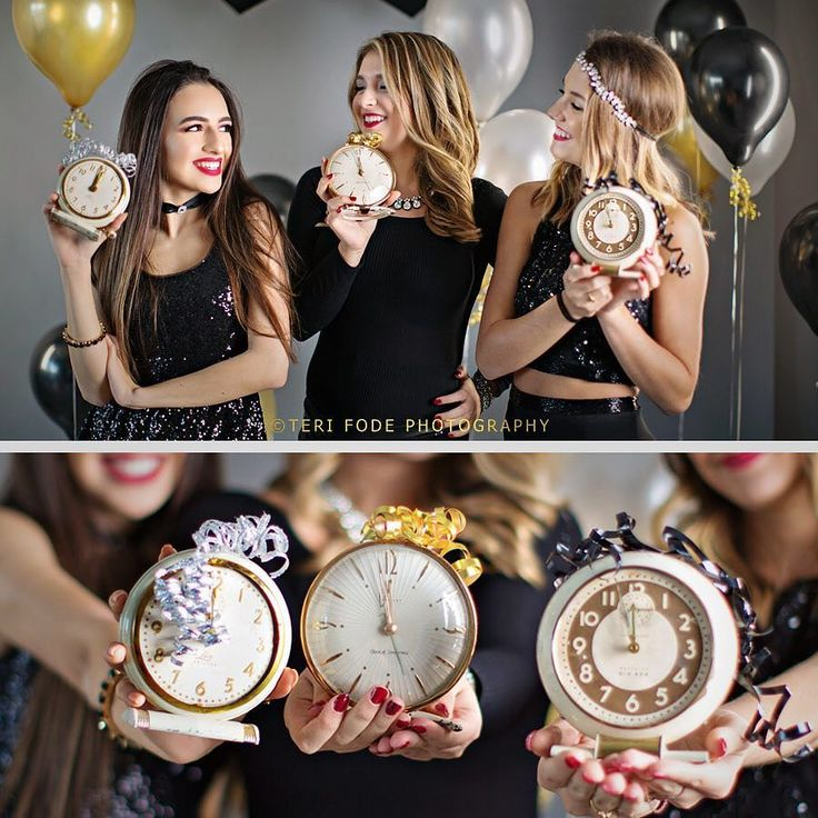 "The countdown is ON to 2017! We had a little ""New Year's Eve"" party-shoot at the studio this week and 8 of our 2017 seniors starred in our NYE Film---we're going to post it on New Year's Eve by 6pm pst! Happy New Year!"