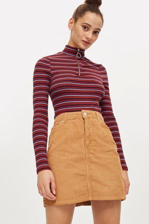 390310f91 TALL Cord High Waisted Skirt Topshop Sale, Camel Skirts, Topshop Skirts,  Corduroy,