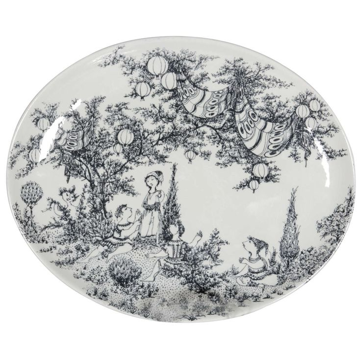 A Mid Summer Nights Dream Platter by Bjorn Wiinblad | From a unique collection of antique and modern ceramics at https://www.1stdibs.com/furniture/dining-entertaining/ceramics/