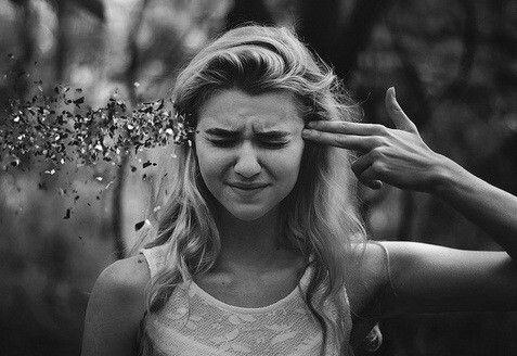 девушка, гранж, пистолет, Tumblr