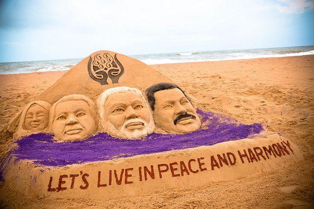 Sand Artist Manas Kumar Sahoo congratulates the Prime Minister of India PURIWAVES