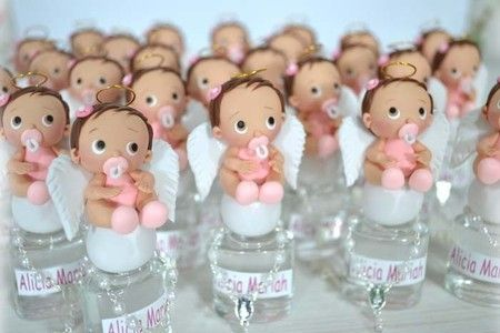 Lembrancinhas de batizado com miniatura de anjo em rosa bebê - A 272 - Ovelhinha de Algodão - Lembrancinhas