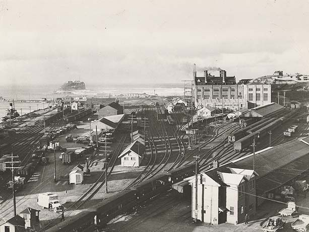 How things have changed! Easy to lose sight of how much our city and harbour foreshore has changed. Newcastle railway tracks
