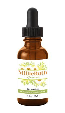 By FAR My Favorite New Face Serum! MillieRuth Naturals BEST Vitamin C Serum for Your Face - Potent 20% Vitamin C! http://MillieRuthNaturals.com