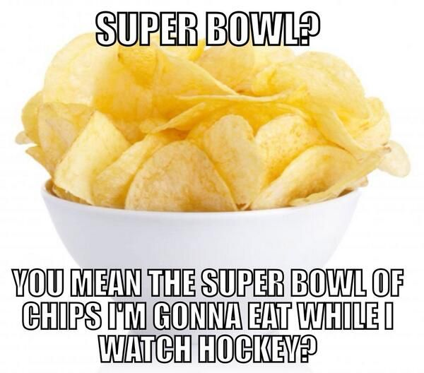 I actually did this guys, My little bro had a broncos jersey and I had my Canucks jersey on and I sat upstairs watching random hockey games rather than the Super Bowl