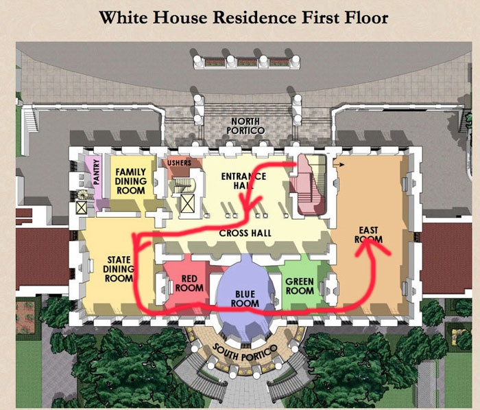 Residence Floor Plan The White House Washington Dc Tour