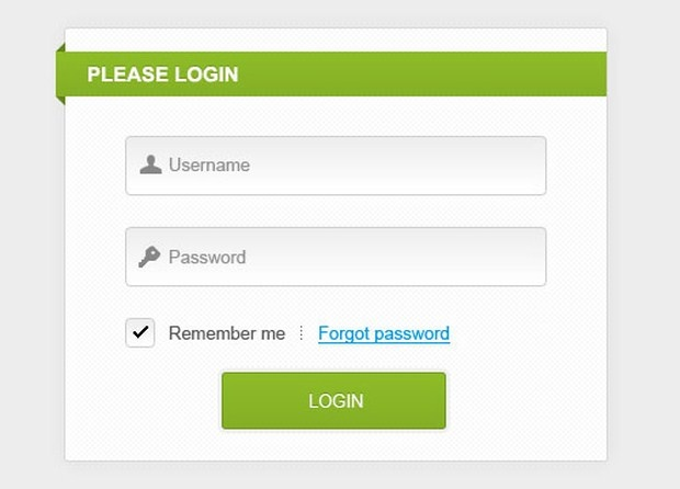 Clean and simple login form | Login Forms | Pinterest | Design ...