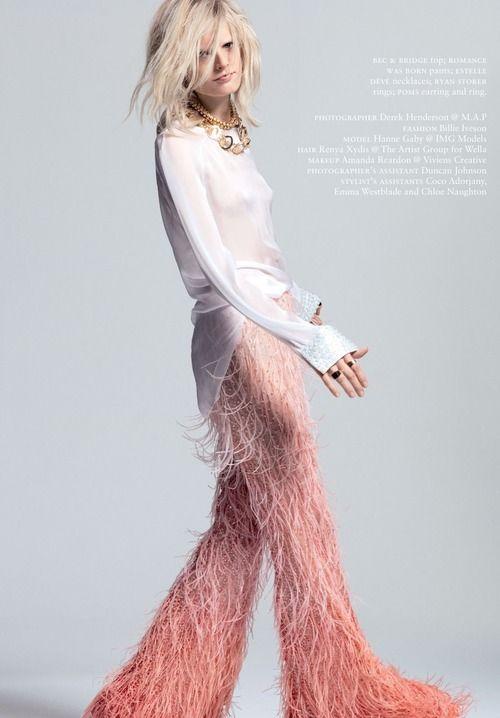 RUSSH June/July 2013,Hanne Gaby Odiele ByDerek HendersonHanne Gaby At Merceds Benz Fashion Week Australia