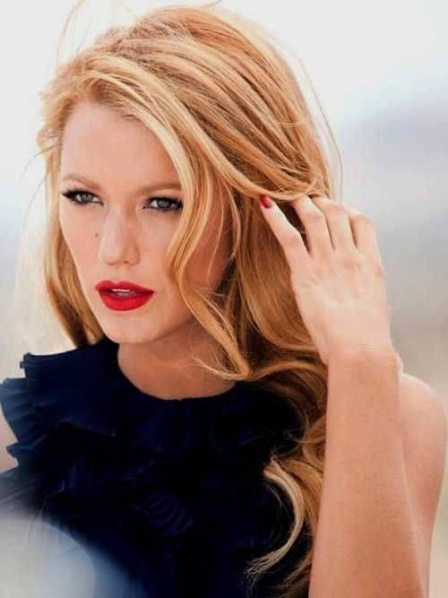 Blake Lively has been seen rocking strawberry blonde looks #blondehair #haircolor #hairstyle